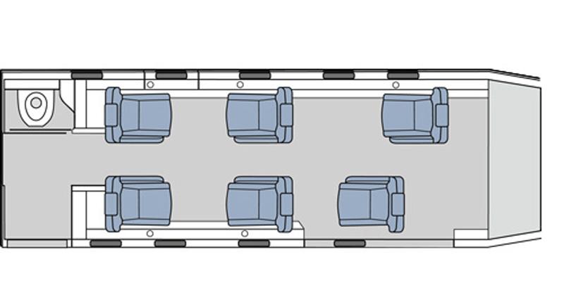 Floor plan of Pilatus PC-12