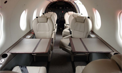 Interior of Pilatus PC-12