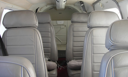 Interior of Piper PA-34 Seneca