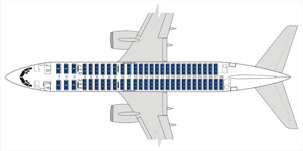 Floor plan of Boeing 737-800