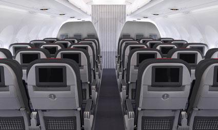 Interior of Boeing 737-800