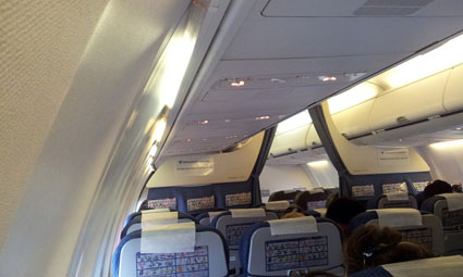 Interior of Boeing 737-800