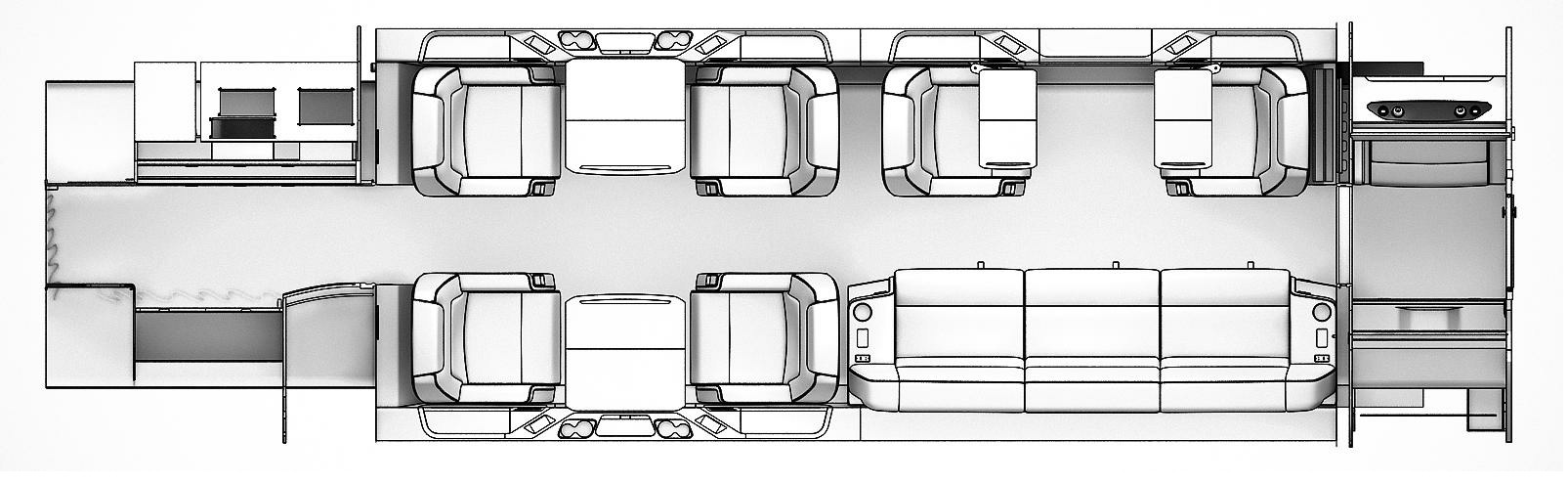 Floor plan of Challenger 350