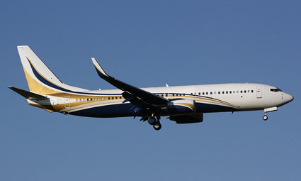 Exterior of Boeing Business Jet