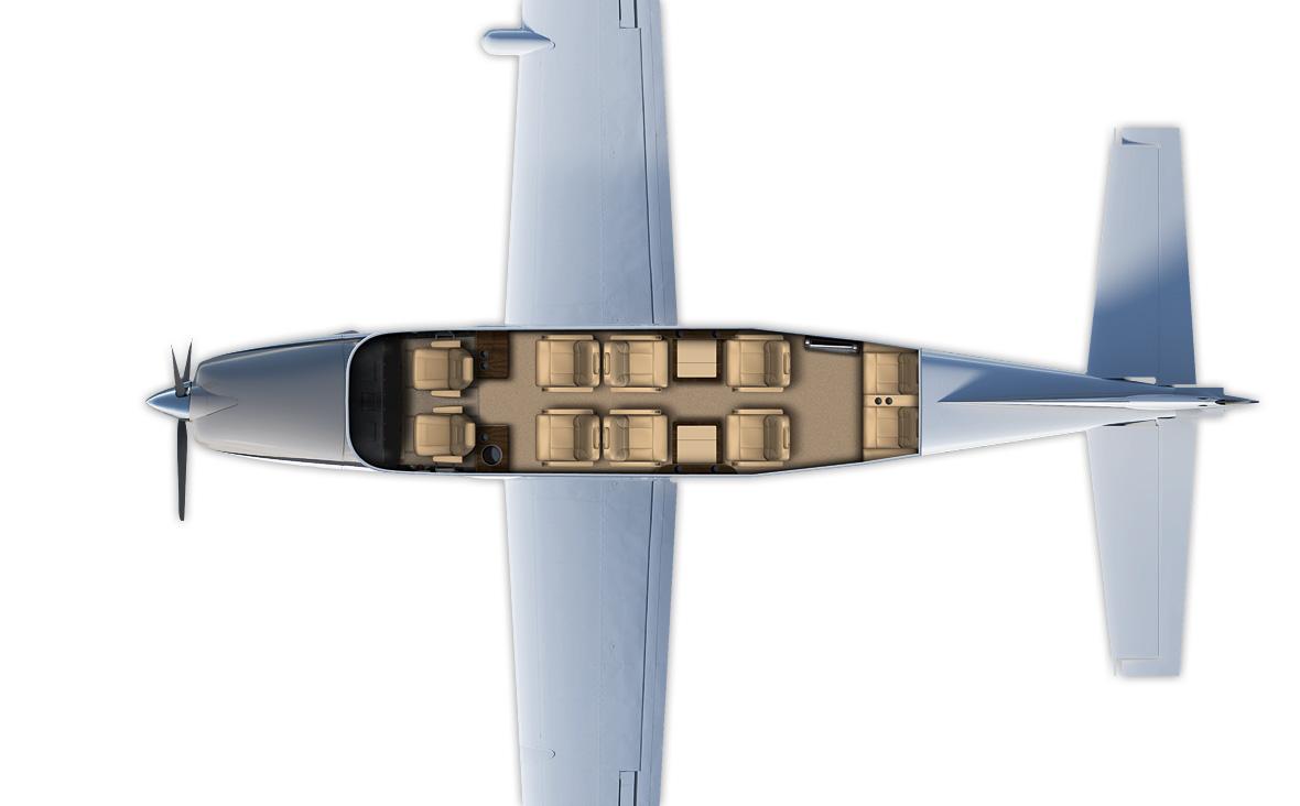 Floor plan of Cessna 206