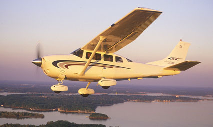 Exterior of Cessna 206