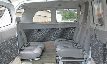 Interior of Cessna 206
