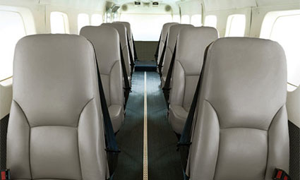 Interior of Cessna C208 Amphibian