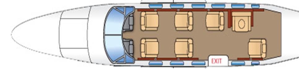 Floor plan of Cessna Conquest I