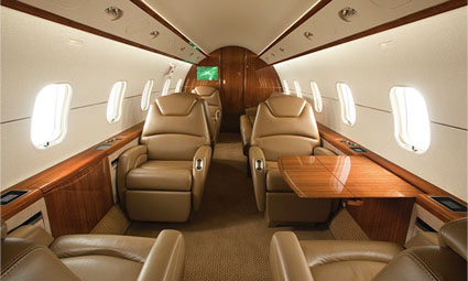 Interior of Challenger 300