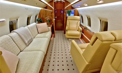 Interior of Challenger 601