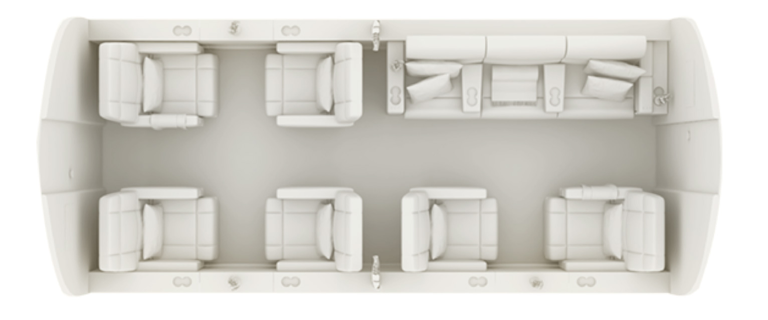 Floor plan of Challenger 604