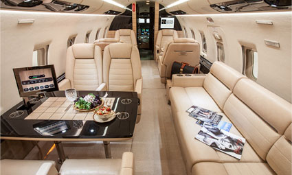 Interior of Challenger 604