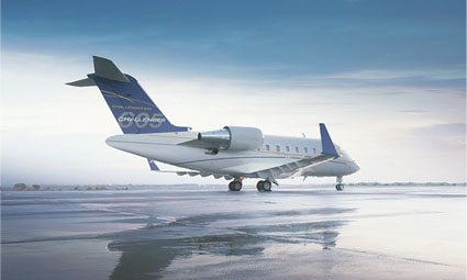Exterior of Challenger 605