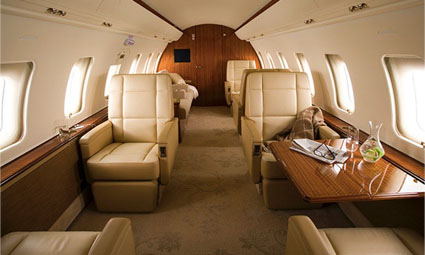 Interior of Challenger 605