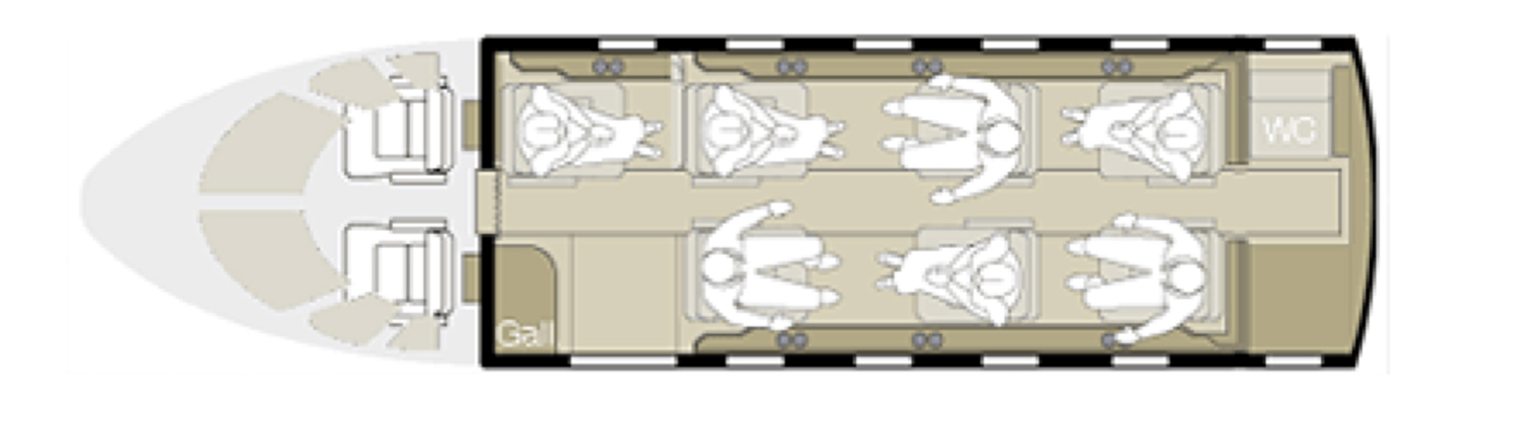Floor plan of Citation Bravo