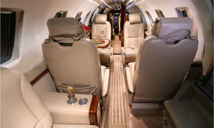 Interior of Citation CJ1