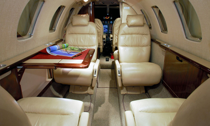 Interior of Citation CJ1+