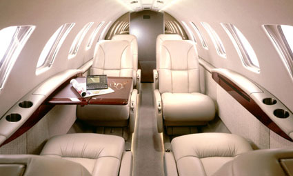 Interior of Citation CJ2