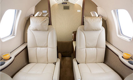 Interior of Citation CJ2+