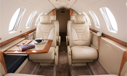 Interior of Citation CJ3