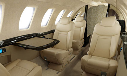 Interior of Citation CJ4