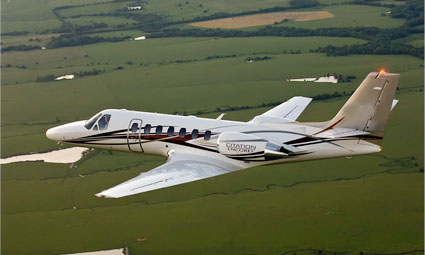 Exterior of Cessna Citation Encore