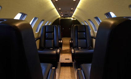 Interior of Cessna Citation Encore