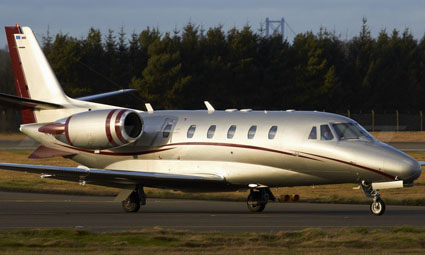 Exterior of Cessna Citation Excel