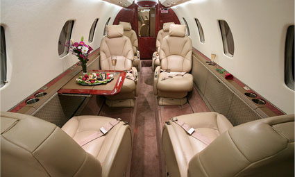 Interior of Cessna Citation Excel