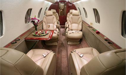 Interior of Cessna Citation Excel