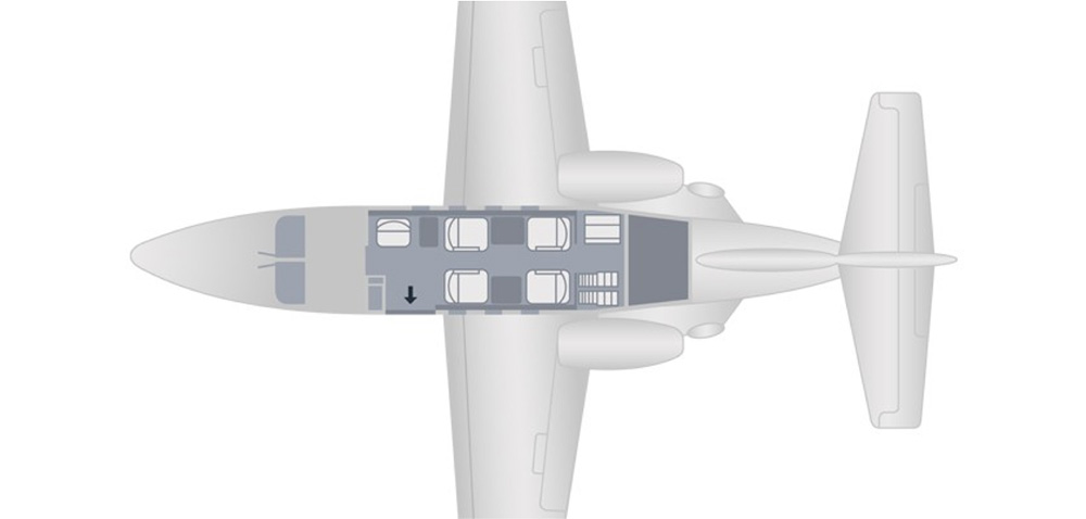 Floor plan of Citation Jet (CJ)