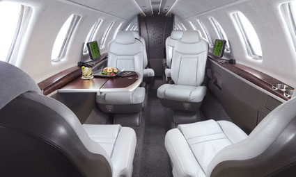 Interior of Citation Jet (CJ)