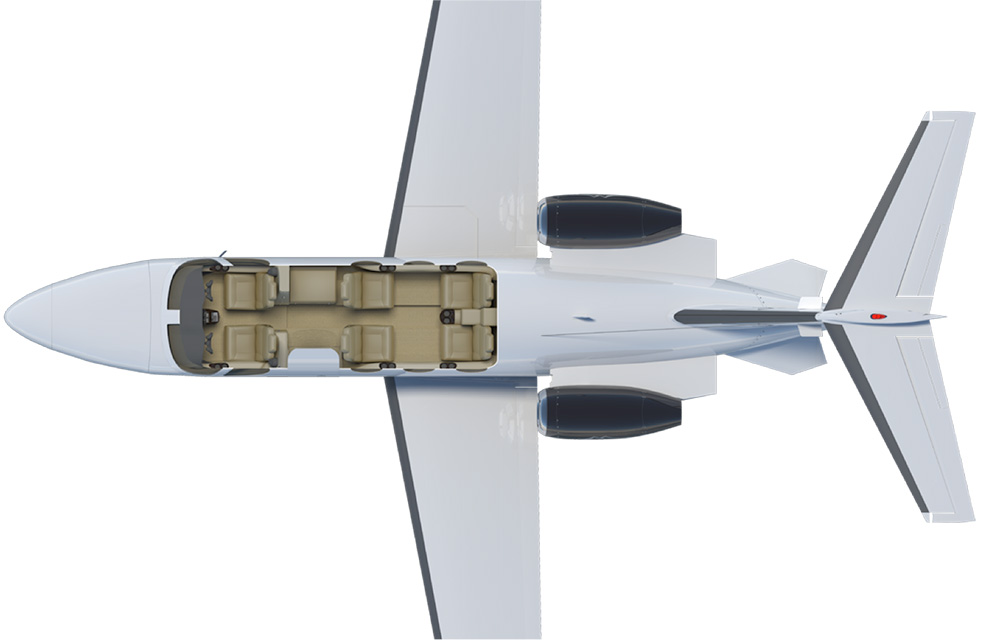 Floor plan of Citation Mustang