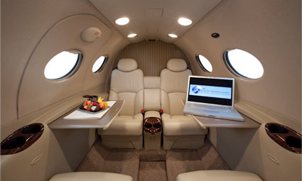 Interior of Citation Mustang