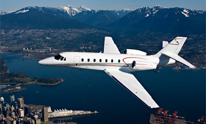 Exterior of Cessna Citation Sovereign