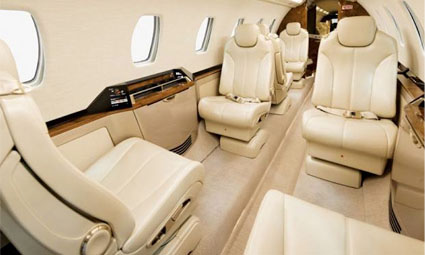 Interior of Cessna Citation Sovereign