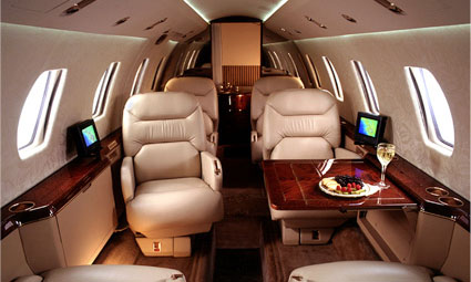 Interior of Cessna Citation VII
