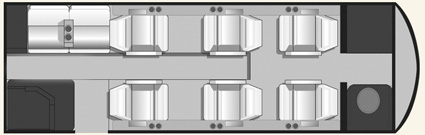 Floor plan of Cessna Citation V Ultra