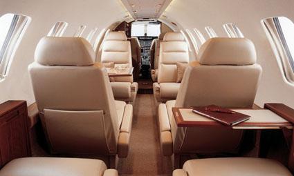 Interior of Cessna Citation V Ultra