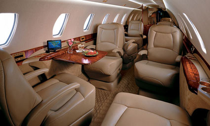 Interior of Cessna Citation V Ultra