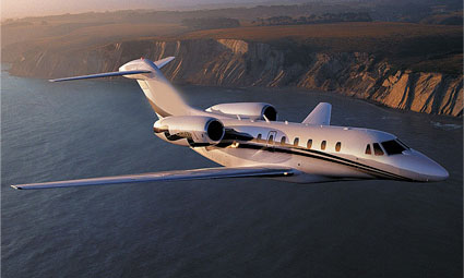 Exterior of Cessna Citation X