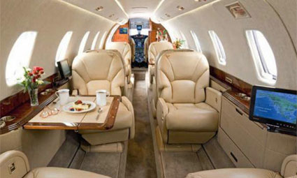 Interior of Cessna Citation X