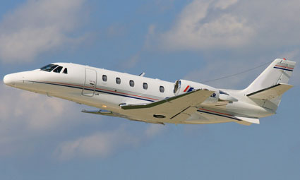 Exterior of Cessna Citation XLS