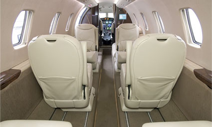 Interior of Cessna Citation XLS