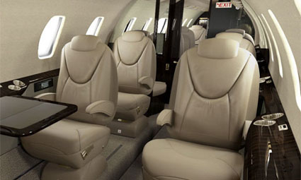 Interior of Cessna Citation XLS+