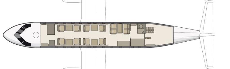 Floor plan of Dornier 328 Executive Jet