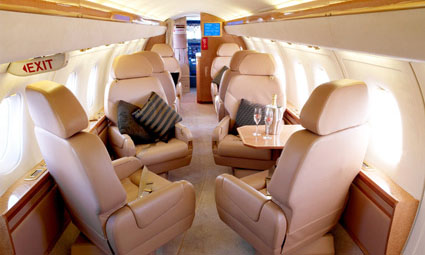 Interior of Dornier 328 Executive Jet